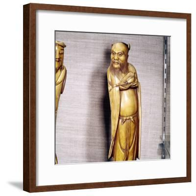 The Taoist Immortal, Chung Li Ch'Uan, Chinese Ivory, Ming Dynasty, 17th century-Unknown-Framed Giclee Print