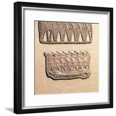 Bronze Plaque from Kama River Tribes, USSR, 3rd century BC-8th century-Unknown-Framed Giclee Print