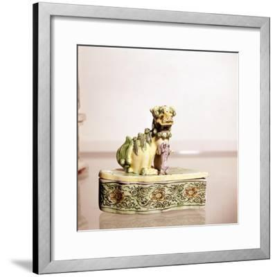 Lion, Chinese Porcelain-Unknown-Framed Giclee Print