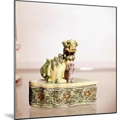 Lion, Chinese Porcelain-Unknown-Mounted Giclee Print