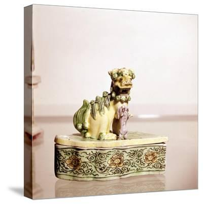Lion, Chinese Porcelain-Unknown-Stretched Canvas Print