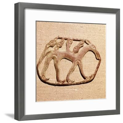 Bronze Plaque, Kama River Tribes Mircaulous Image of Wilde Beast, 3rd century BC-8th century-Unknown-Framed Giclee Print
