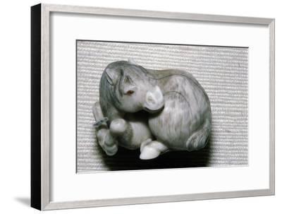 Japanese Netsuke Horse-Unknown-Framed Giclee Print