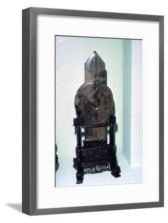 Taoist Symbol in arrow shape, with trigrams of the I-Ching, Han Dynasty, 206 BC-220-Unknown-Framed Giclee Print
