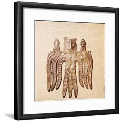 Bronze Plaque, Kama River Tribes Mircaulous Image of Shamanism, 3rd century BC-8th century-Unknown-Framed Giclee Print