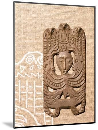 Bronze Plaque related to Shamanism and Magic, Kama River Area, USSR, 3rd century BC-8th century-Unknown-Mounted Giclee Print