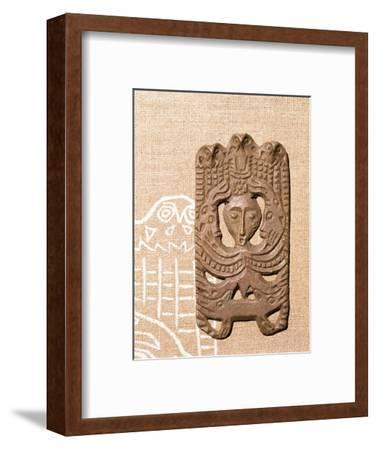 Bronze Plaque related to Shamanism and Magic, Kama River Area, USSR, 3rd century BC-8th century-Unknown-Framed Giclee Print