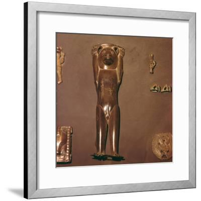 Bronze Figurine of Bear, used in Shaman's Ritual, Perm Region, Russia-Unknown-Framed Giclee Print