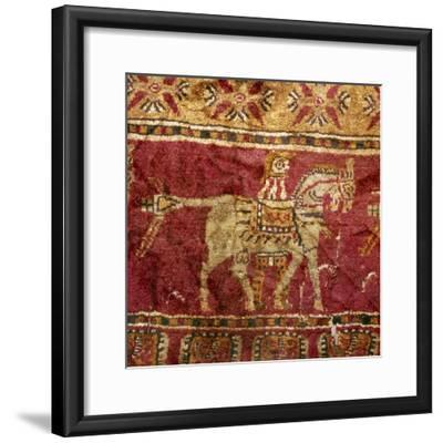 Carpet detail, Man and Horse, from Tomb at Pazyryk, Altai, USSR, 5th century BC-4th century BC-Unknown-Framed Giclee Print