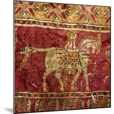 Carpet detail, Man and Horse, from Tomb at Pazyryk, Altai, USSR, 5th century BC-4th century BC-Unknown-Mounted Giclee Print