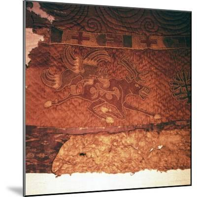 Wall-hanging of griffin attacking an elk, from Kurgan, Northern Mongolia, c1st century BC-Unknown-Mounted Giclee Print