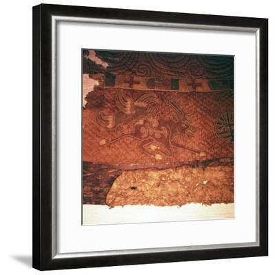 Wall-hanging of griffin attacking an elk, from Kurgan, Northern Mongolia, c1st century BC-Unknown-Framed Giclee Print