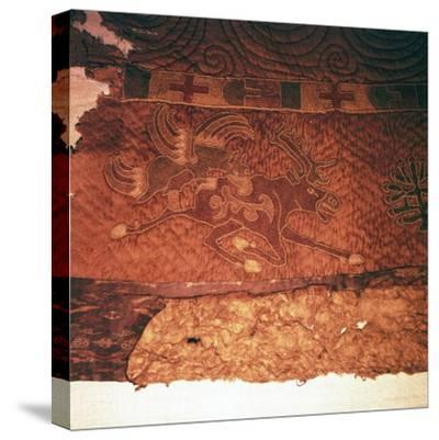 Wall-hanging of griffin attacking an elk, from Kurgan, Northern Mongolia, c1st century BC-Unknown-Stretched Canvas Print