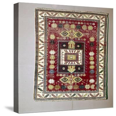 Rug with Pattern of terraced garden from the Caucasus, 18th century-Unknown-Stretched Canvas Print