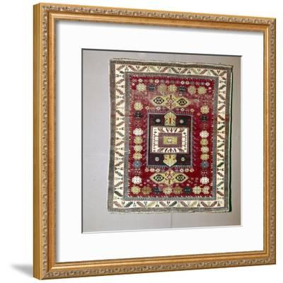 Rug with Pattern of terraced garden from the Caucasus, 18th century-Unknown-Framed Giclee Print