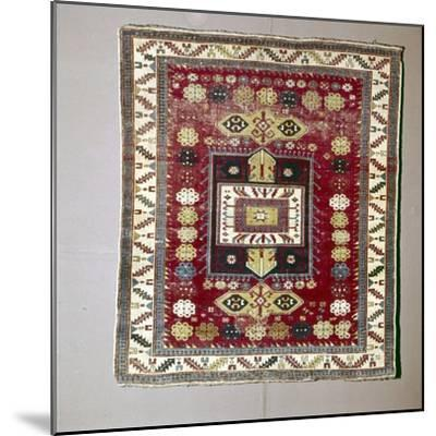 Rug with Pattern of terraced garden from the Caucasus, 18th century-Unknown-Mounted Giclee Print