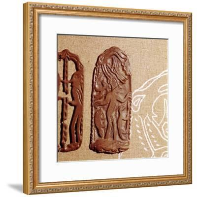 Bronze Plaque, Kama River Tribes, USSR, 3rd century BC-8th century-Unknown-Framed Giclee Print