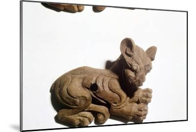 Kitten Carved wooden bridle-plate from Pazyryk, Altai Mountains, 5th century BC-4th century BC-Unknown-Mounted Giclee Print