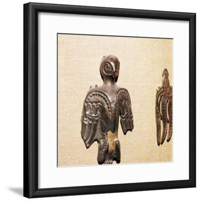 Bronze used in Shaman's practices, Kama River Tribes, 3rd century BC-8th century-Unknown-Framed Giclee Print