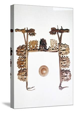 Riding outfit from Pazyryk, Altai Mountains, USSR, 5th century BC-4th century BC-Unknown-Stretched Canvas Print