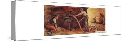 'Gold. - Drlling Blast Holes, S. Africa', 1928-Unknown-Stretched Canvas Print