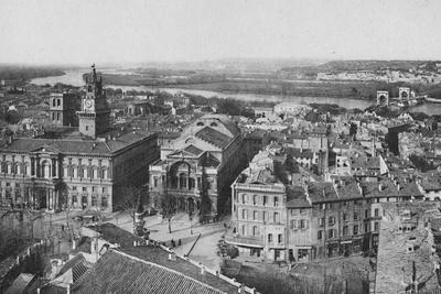 'Avignon - General View Taken From St. Laurent Tower', c1925-Unknown-Framed Photographic Print