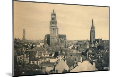 'The three Towers (the Belfry, the Cathedral and our Lady's Church)', c1910-Unknown-Mounted Photographic Print