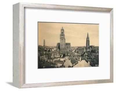 'The three Towers (the Belfry, the Cathedral and our Lady's Church)', c1910-Unknown-Framed Photographic Print