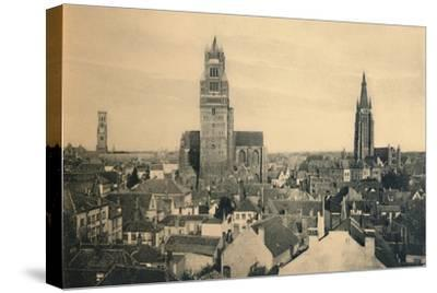 'The three Towers (the Belfry, the Cathedral and our Lady's Church)', c1910-Unknown-Stretched Canvas Print