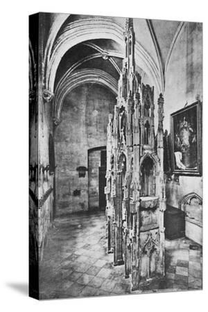 'Interior Tomb of the Pope Jean XXII', c1925-Unknown-Stretched Canvas Print