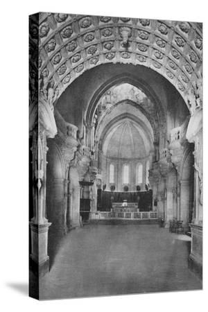 'Cathedrale D'Avignon. - Cathedral Inside', c1925-Unknown-Stretched Canvas Print