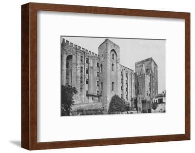 'Avignon. - Popes Palace St. Jean and Trouillas Towers (West Front)', c1925-Unknown-Framed Photographic Print