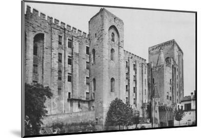 'Avignon. - Popes Palace St. Jean and Trouillas Towers (West Front)', c1925-Unknown-Mounted Photographic Print