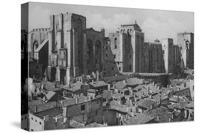 'Avignon - Popes Palace (East Side)', c1925-Unknown-Stretched Canvas Print