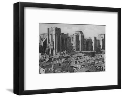'Avignon - Popes Palace (East Side)', c1925-Unknown-Framed Photographic Print