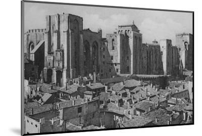'Avignon - Popes Palace (East Side)', c1925-Unknown-Mounted Photographic Print