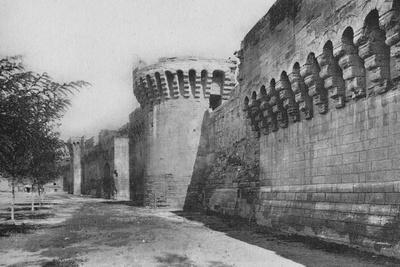 'Avignon. - The Ramparts (XIVe)', c1925-Unknown-Framed Photographic Print