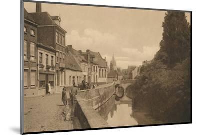 'Le Quai des Ménétriers', c1928-Unknown-Mounted Photographic Print