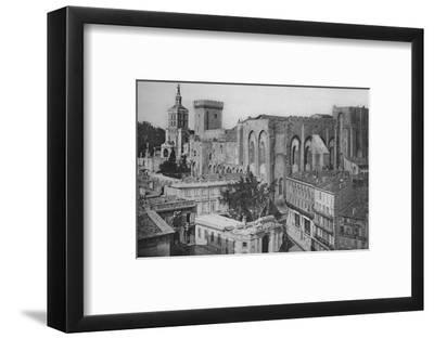 'Avignon - Popes Palace View of the Clock Tower', c1925-Unknown-Framed Photographic Print