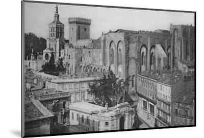 'Avignon - Popes Palace View of the Clock Tower', c1925-Unknown-Mounted Photographic Print