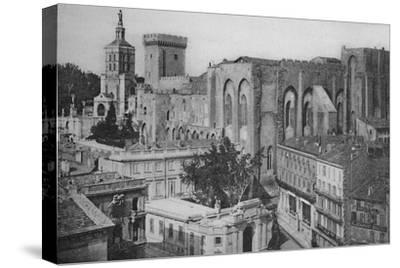 'Avignon - Popes Palace View of the Clock Tower', c1925-Unknown-Stretched Canvas Print