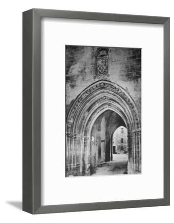 'Avignon - Popes Palace. - Principal Entrance. - And Heraldry of Clément VI', c1925-Unknown-Framed Photographic Print