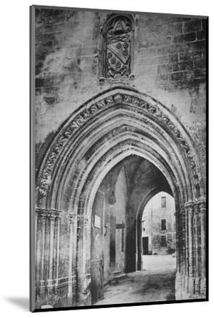 'Avignon - Popes Palace. - Principal Entrance. - And Heraldry of Clément VI', c1925-Unknown-Mounted Photographic Print
