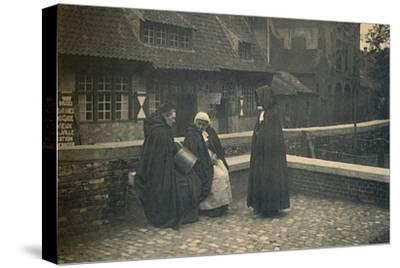 'Behind the Gruuthuse. Types of Bruges', c1910-Unknown-Stretched Canvas Print