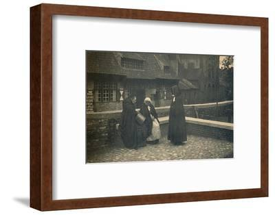 'Behind the Gruuthuse. Types of Bruges', c1910-Unknown-Framed Photographic Print