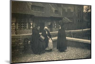 'Behind the Gruuthuse. Types of Bruges', c1910-Unknown-Mounted Photographic Print