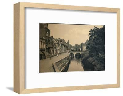 'Quay of the Ménétriers', c1910-Unknown-Framed Photographic Print