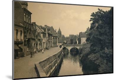 'Quay of the Ménétriers', c1910-Unknown-Mounted Photographic Print