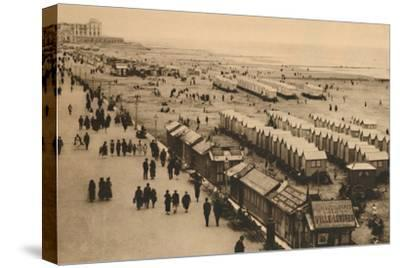 'View of the Esplanade towards the Palace Hotel and Cabins', c1928-Unknown-Stretched Canvas Print