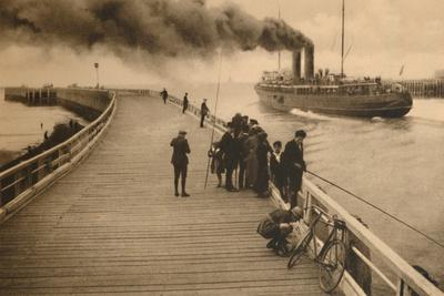 'The Pier and the entrance of the Mail-Steamer', c1928-Unknown-Framed Photographic Print